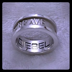 """Diesel """" Only The Brave"""" 925 Silver Ring"""